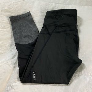 Black DKNY Athletic Crops